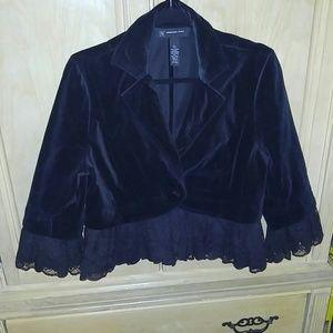 Inc International concepts lace trimmed jacket